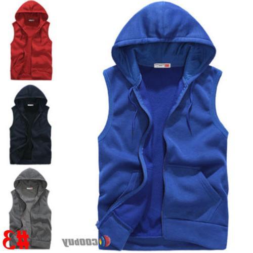 Men's Hoodie Hooded Vest Coat