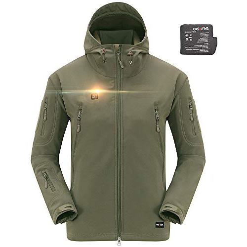 men s soft shell heated jacket