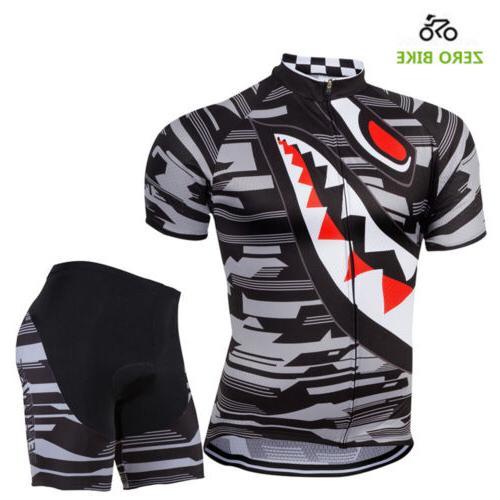 Men's Sport Jersey Sets Bike Bib Top Sleeve Clothing