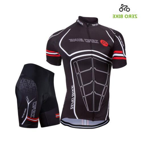 Men's Jersey Sets Bike Bib Top Sleeve Clothing