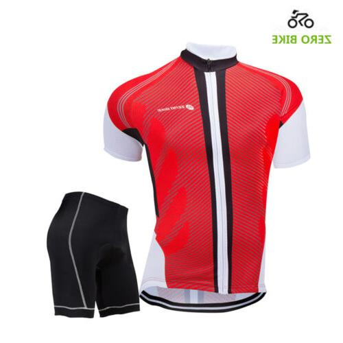 Men's Sport Team Cycling Jersey Bike Bib Top Short Sleeve Clothing