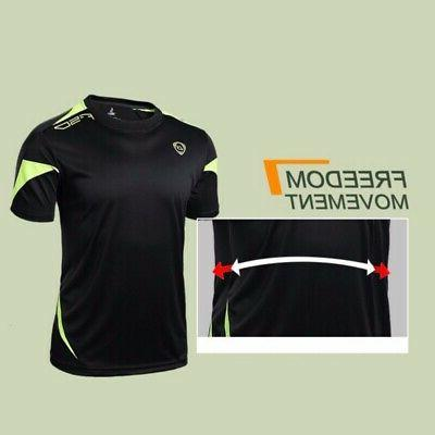 Men's Sports T-shirt Compression Quick Clothing Gym Tops