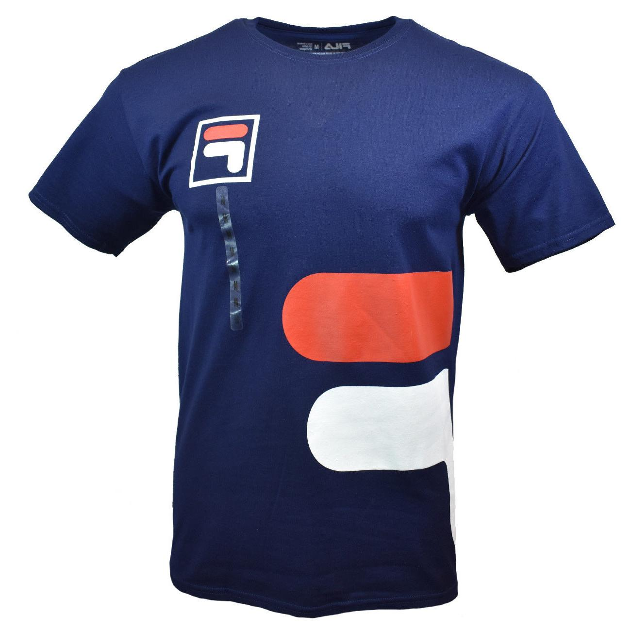 FILA Mens T Shirt S M L Logo Graphic Athletic Sports Apparel