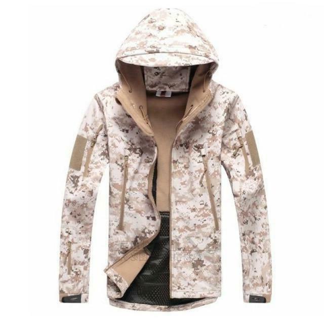 TACVASEN Men's Hooded Military Jacket coat