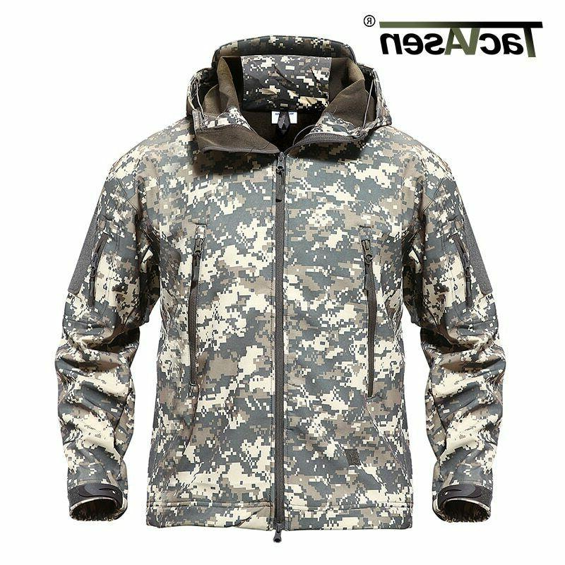 TACVASEN Men's Tactical Hooded Military Jacket