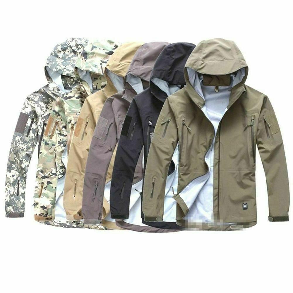 TACVASEN Men's Tactical Concealed Hooded fleece Jacket