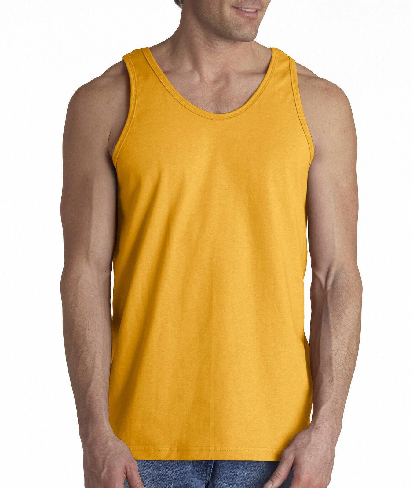 Men's Muscle Gym Plain Tee 100%Cotton