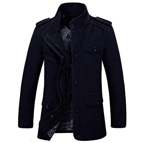 men s trench coat stylish slim fit