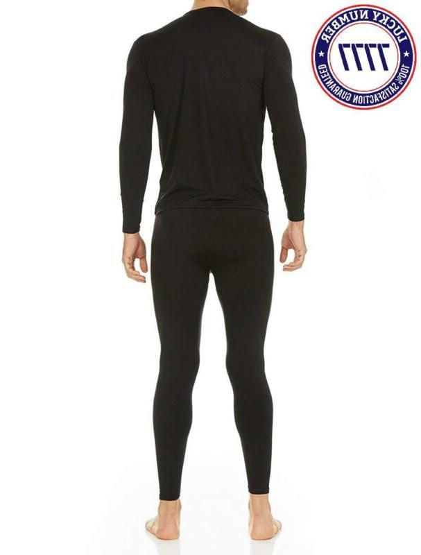 Thermajohn Men'S Thermal Underwear Long Johns Set Fleece