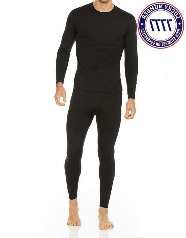 Thermajohn Men'S Thermal Underwear Set Fleece