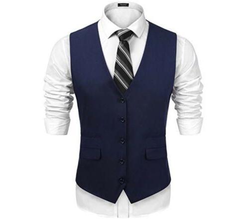 COOFANDY Business Vests Slim Fit
