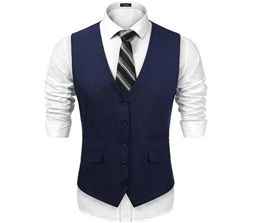 men s v neck sleeveless business suit