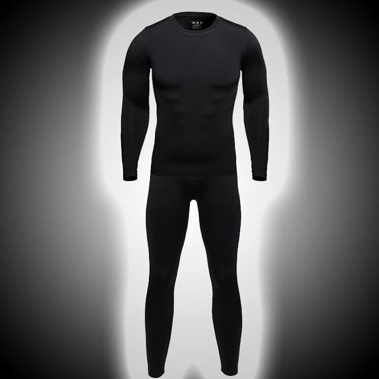 Men's Warm Long Johns Sports Thermal Underwear Neck Workout