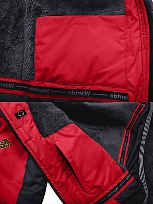 Wantdo Waterproof Mountain Jacket Fleece Windproof Ski Jacket US