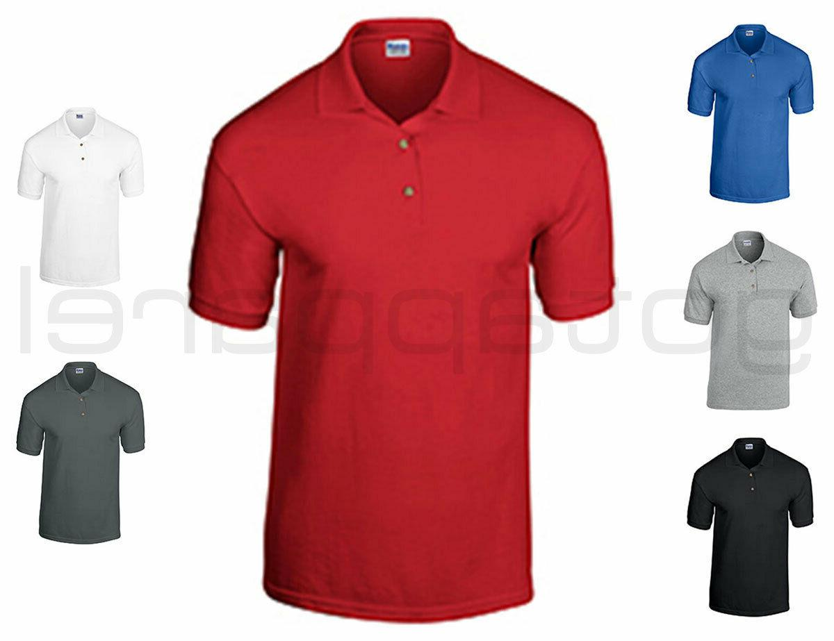 Gildan Men's Welt Collar Short Sleeve Ultra 100% Cotton Jers