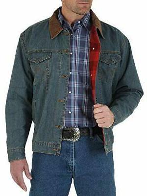 men s western style lined denim jacket