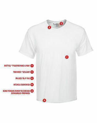 Hanes White T-Shirt 6-Pack TAGLESS FreshIQ