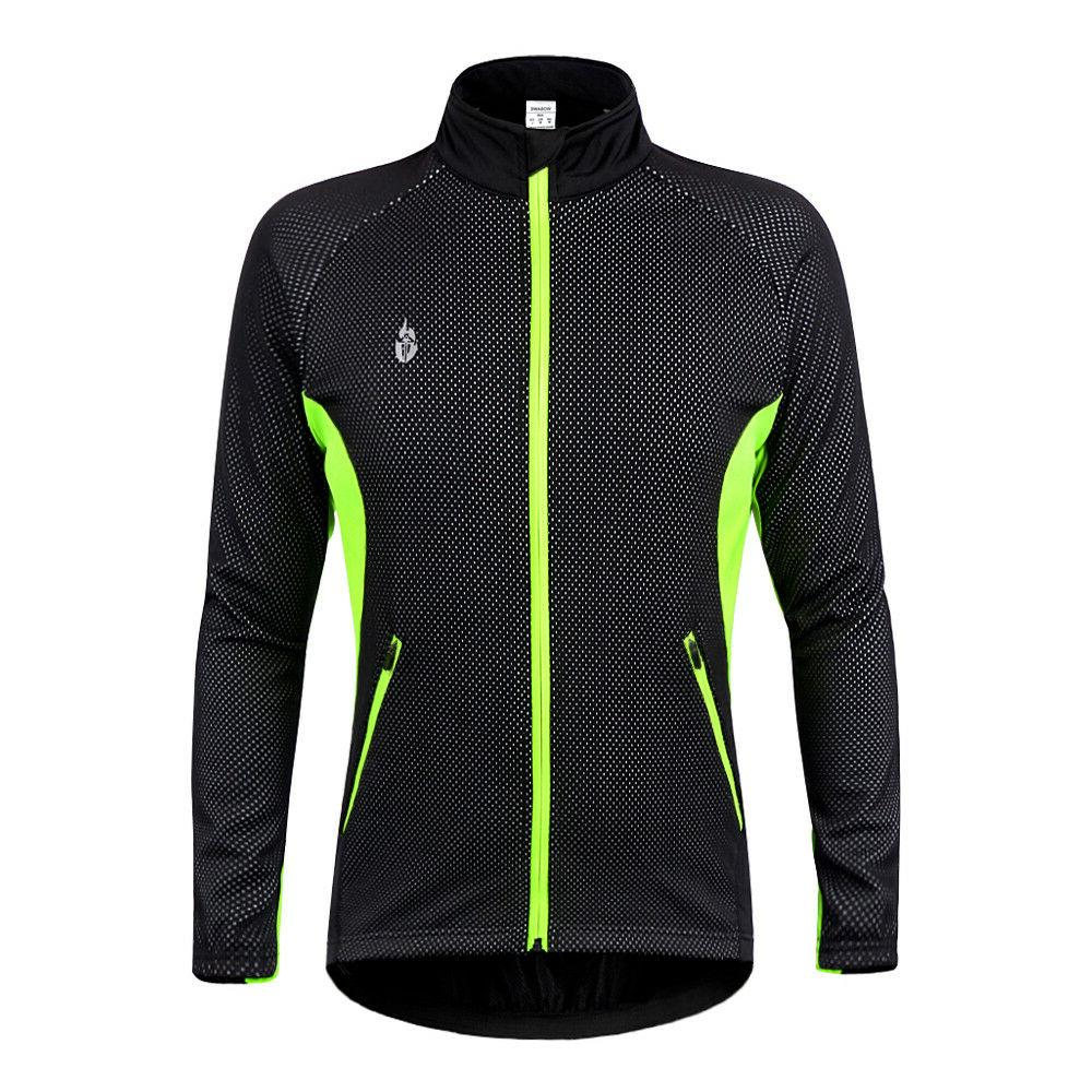 Men's Cycling Fleece Coat Thermal Bicycle Clothes