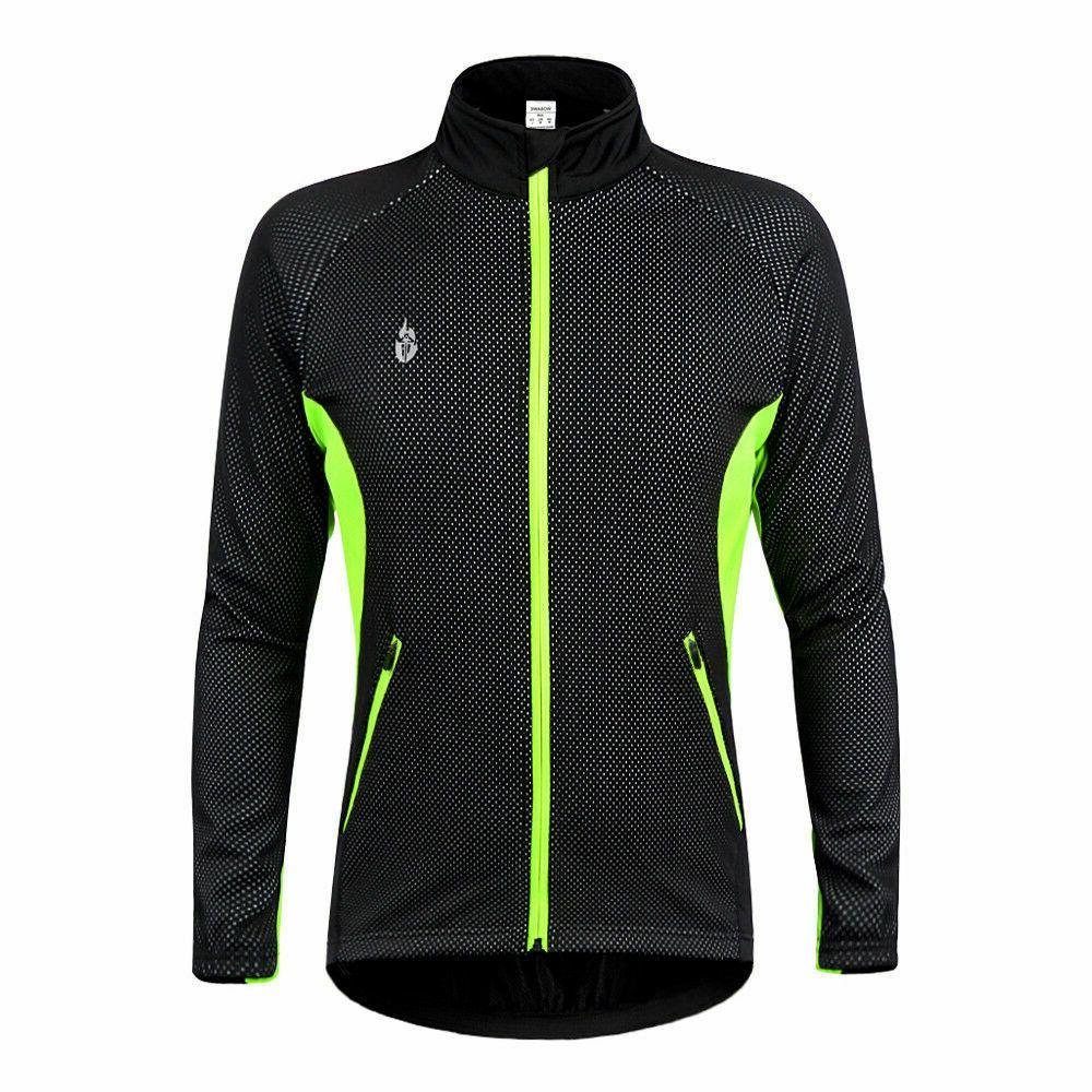 Men's Wind Fleece Coat Winter Thermal Bicycle Clothes