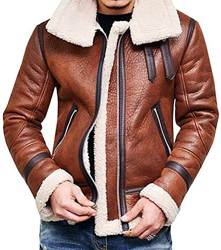 men s winter fashion vintage faux leather