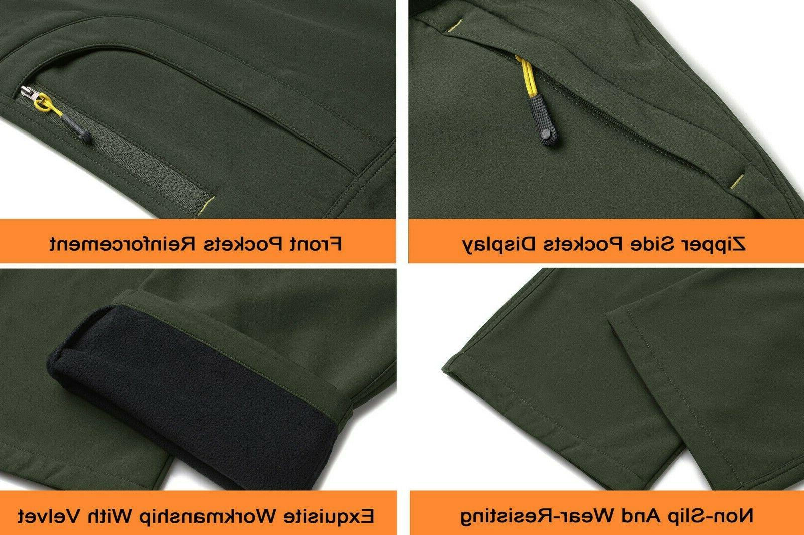 TACVASEN Pants 5 Zip Softshell Hiking Snow Ski