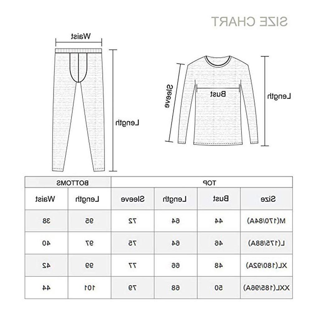 Men's Underwear Clothing Set Long Johns Pants Suits