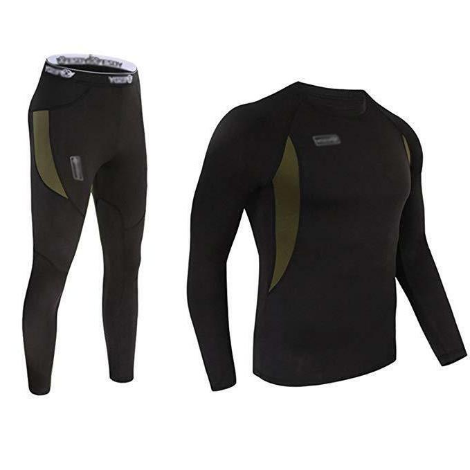 men s winter thermal underwear clothing set