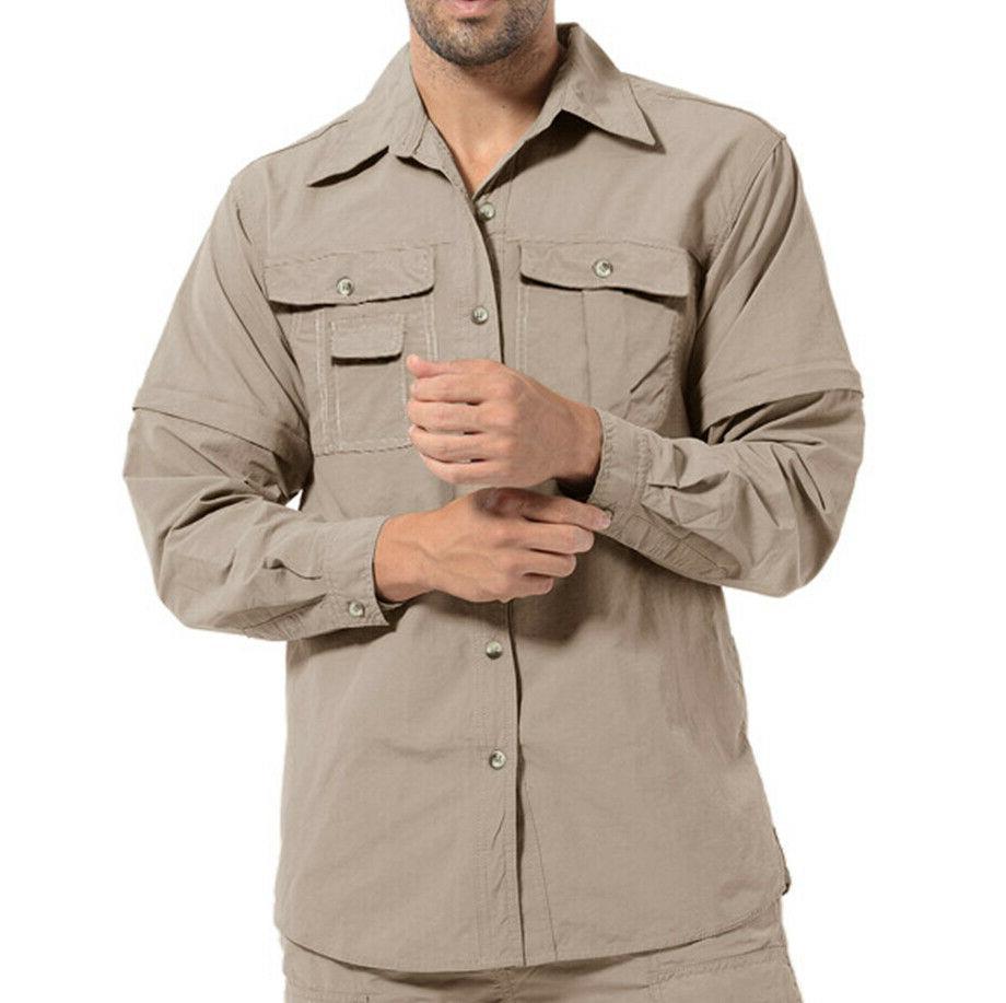 Men's Outdoor Tactical Work Shirts Fishing Walk Shirts Summer Tops