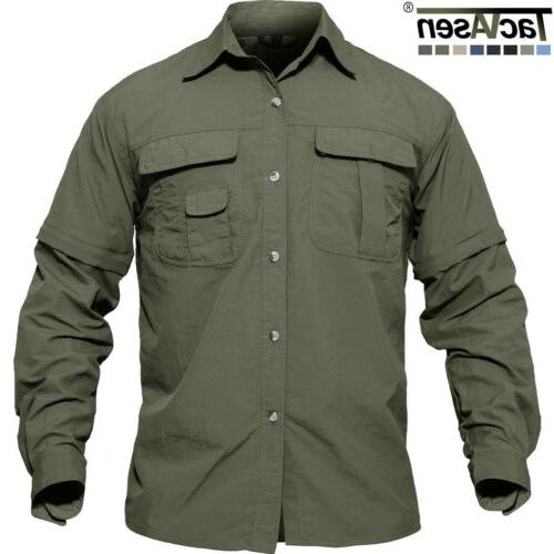 men s work shirts quick drying hunting