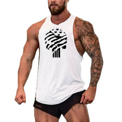 Men Sports Slim Fit Vest Tank T-Shirt Summer Clothes