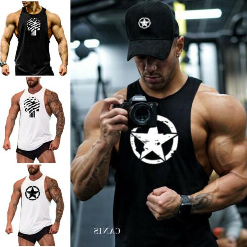 Men Casual Gym Sports Fit Tank Clothes