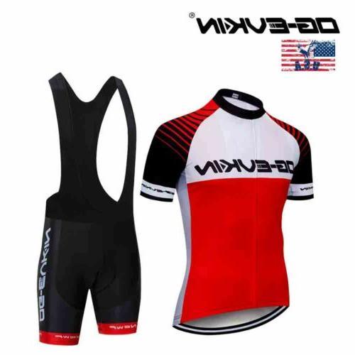 men sports bicycle clothing cycling jersey bib