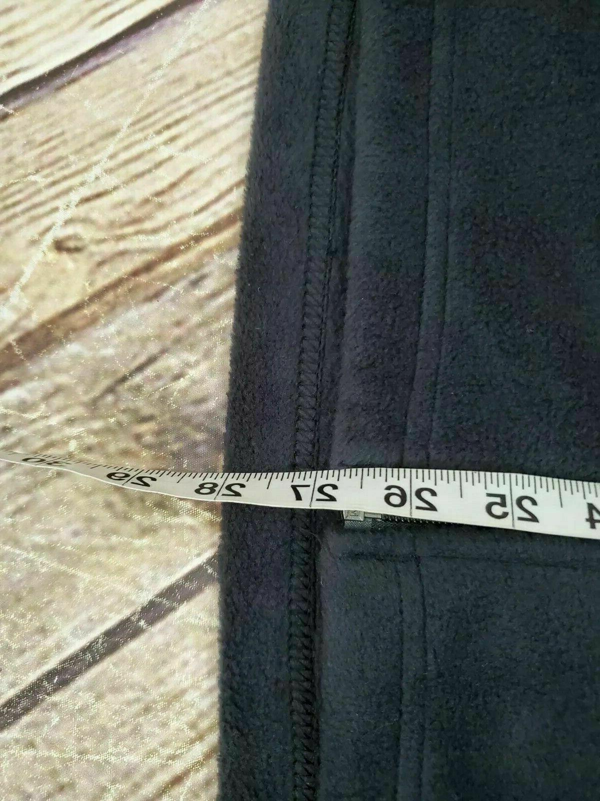 Vest Full Zip Fleece Black/Mountain Red NWOT