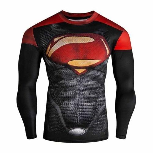 Mens Sleeve T-Shirt Tops Fitness Gym T Shirt Tee