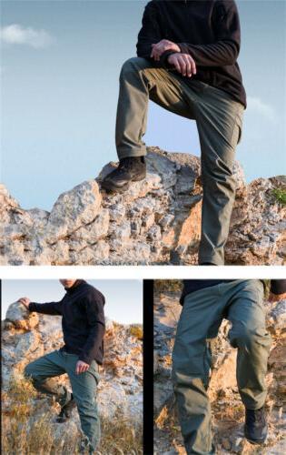 TACVASEN Men Tactical Fleece Shell Hunting Combat Trousers