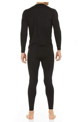 Men Thermal Underwear Stretch T-Shirt Sleeve Tops Sleepwear