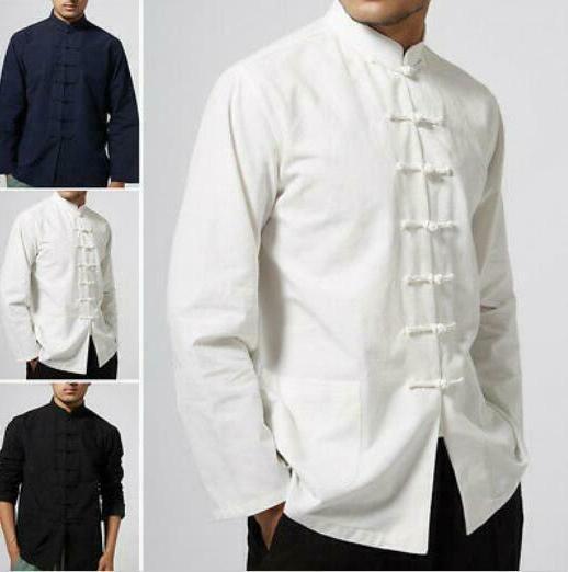 Men Chinese Tang Suit Tai Chi Uniform Clothing