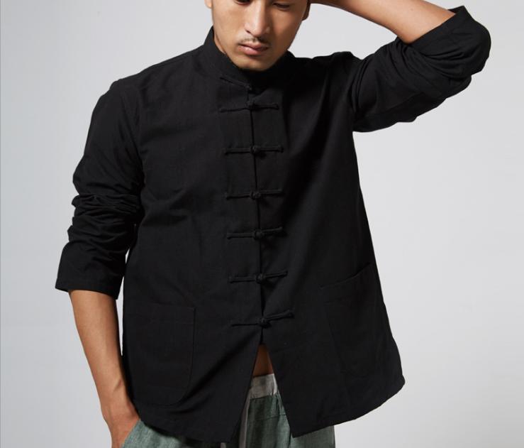 Men Traditional Chinese Suit Kung Fu Tai Chi Jacket Clothing