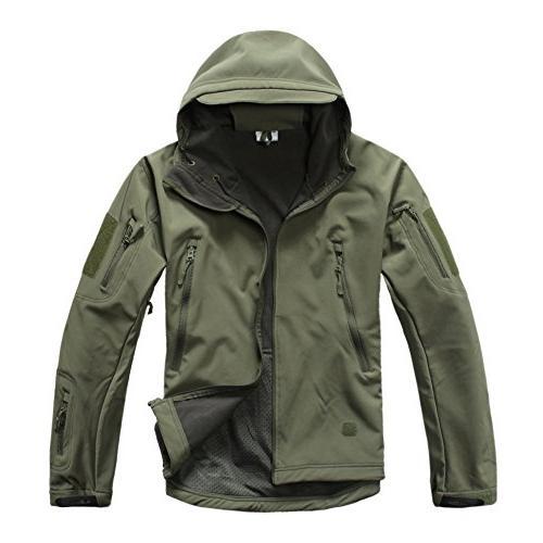 TACVASEN Windproof Tactical Hunting Jacket Coat XL