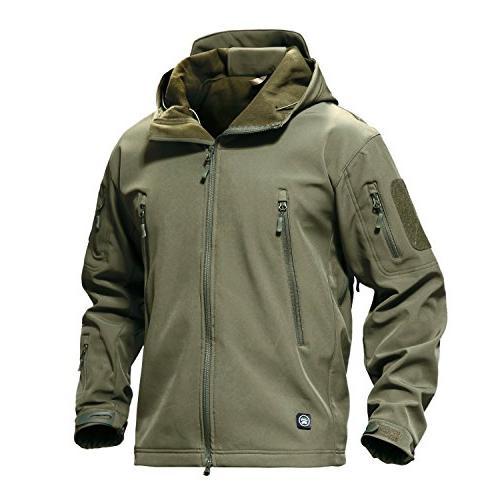 TACVASEN Jacket Coat Army