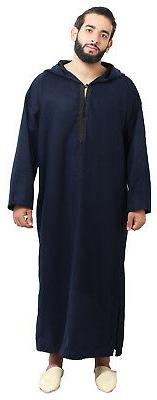 Men Winter Jelaba Jellaba Moroccan Caftan Kaftan Hooded Cott