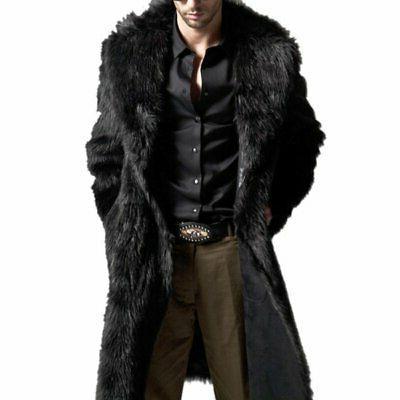 Men Winter Fur Coat Fashion Jacket Parka Male Clothes New US