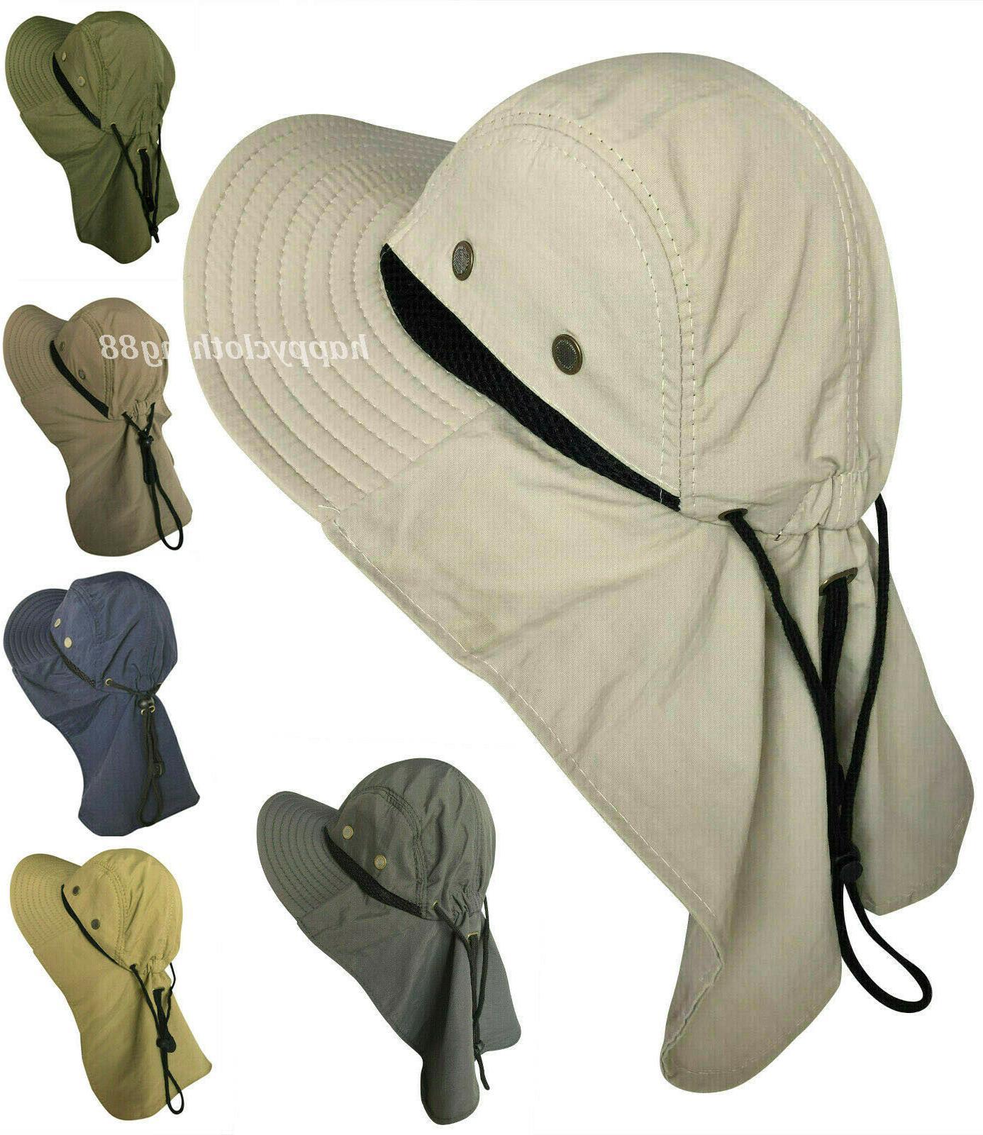 men women boonie hat with neck flap