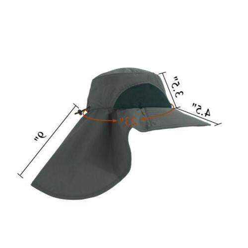 Men Women Hat Cover Flap Cap Visor Garden