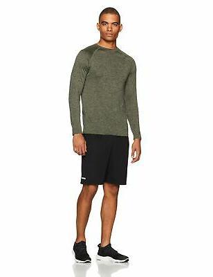 Amazon Essentials Men's Loose-Fit Performance Shorts Black/Black Large