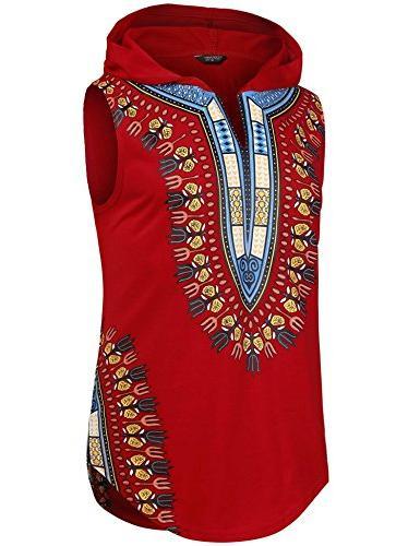 Dashiki Hooded Fashion Tank