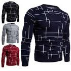 Mens Autumn Basic Sweater Knitted Jerseys Tops Youth Clothes