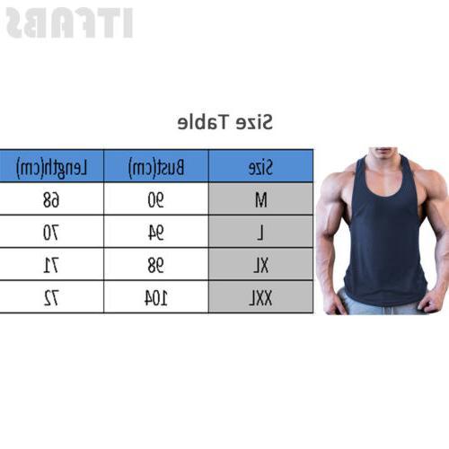 Mens Tank Top Gym Workout Sports