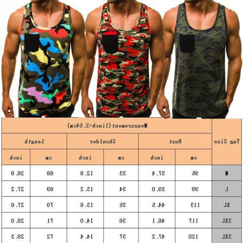 Mens Bodybuilding Top Sports Vest Shirt Clothes