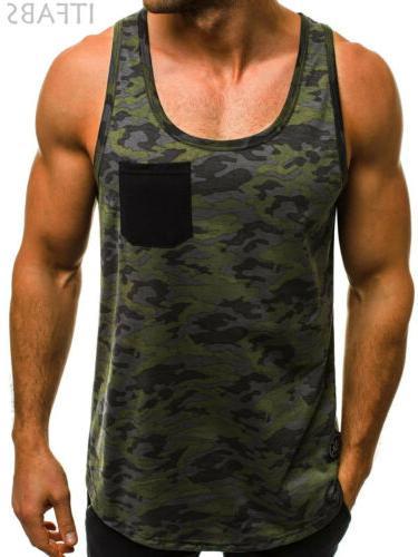 Mens Top Y-Back Gym Sports Vest Shirt